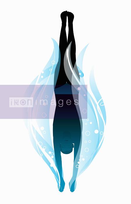 Dan Sipple - Man diving into water