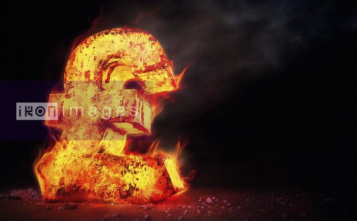 Ian Cuming - Red hot burning metal pound sign