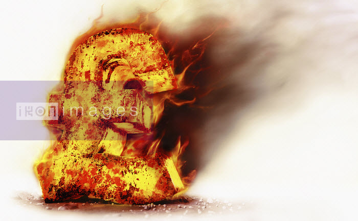 Red hot burning metal pound sign - Red hot burning metal pound sign - Ian Cuming