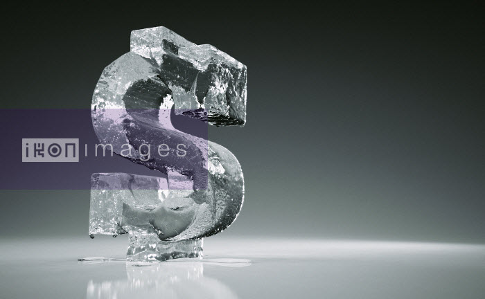 Melting frozen dollar sign - Melting frozen dollar sign - Ian Cuming