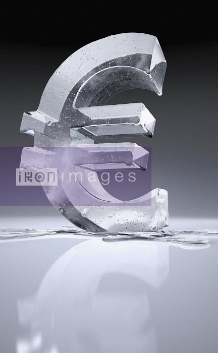 Melting frozen euro sign - Melting frozen euro sign - Ian Cuming