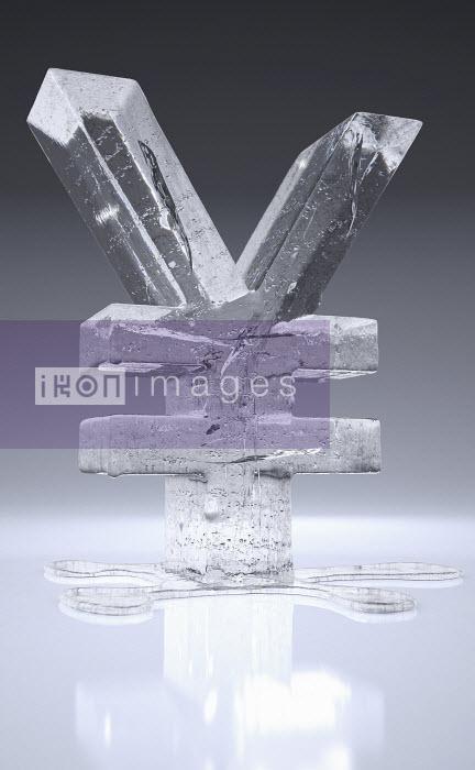 Melting frozen yen sign - Melting frozen yen sign - Ian Cuming