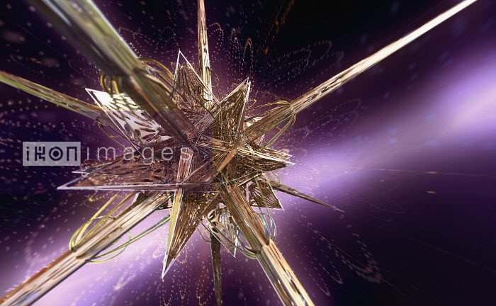 Complex abstract gold metallic angular three dimensional star shape - Complex abstract gold metallic angular three dimensional star shape - Ian Cuming