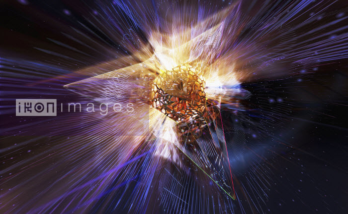 Light exploding from abstract prism pattern - Light exploding from abstract prism pattern - Ian Cuming