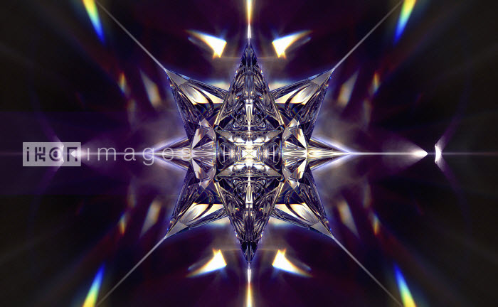 Abstract shiny three dimensional geometric star shape - Abstract shiny three dimensional geometric star shape - Ian Cuming