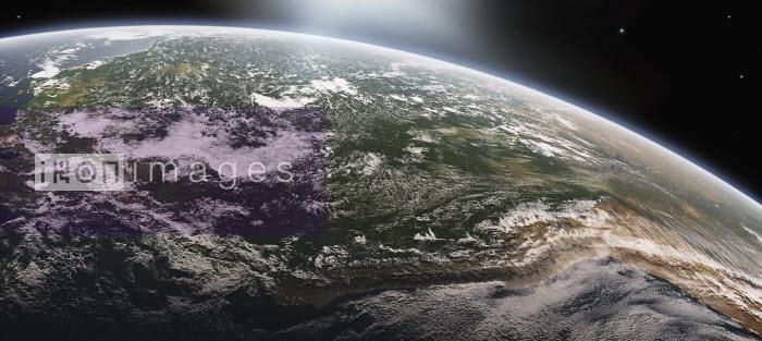 Digitally manipulated image of the River Amazon and the Andes from space - Digitally manipulated image of the River Amazon and the Andes from space - Ian Cuming