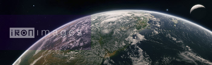 Digitally manipulated image of the Amazon Basin from space - Ian Cuming