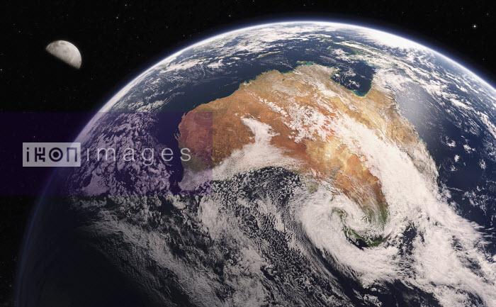 Digitally manipulated image of Australia from space - Ian Cuming