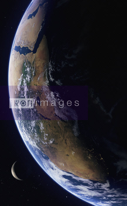 Digitally manipulated image of East Africa from space - Ian Cuming