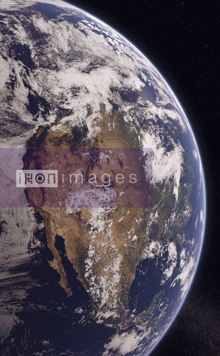 Digitally manipulated image of Western North America from space - Ian Cuming