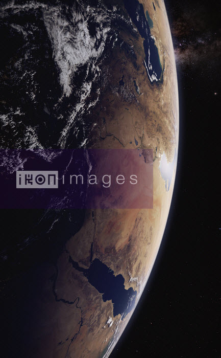 Digitally manipulated image of the Arabian Peninsula from space - Ian Cuming