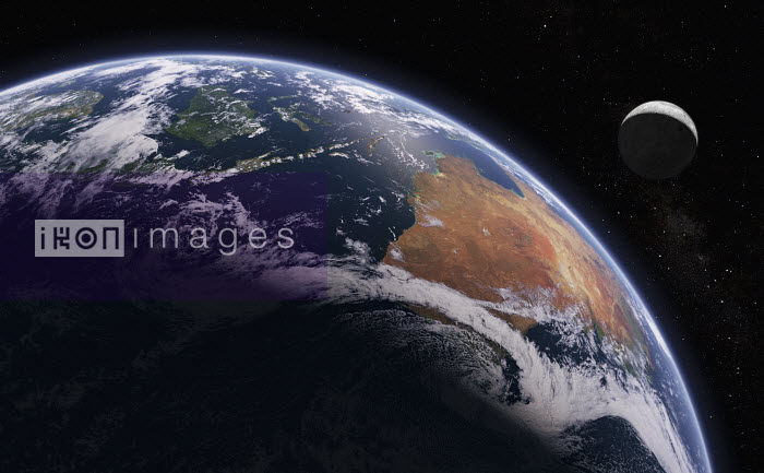 Digitally manipulated image of Australia and Indonesia from space - Ian Cuming