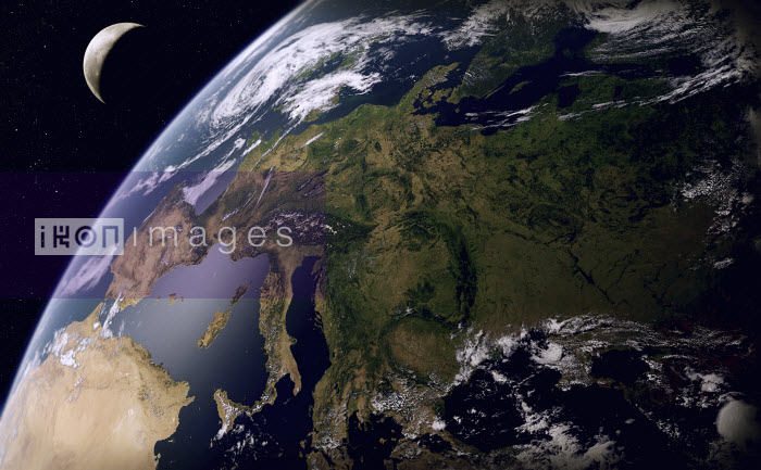 Digitally manipulated image of Europe from space - Ian Cuming