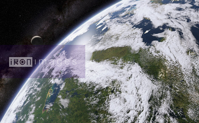 Digitally manipulated image of Hudson Bay from space - Ian Cuming