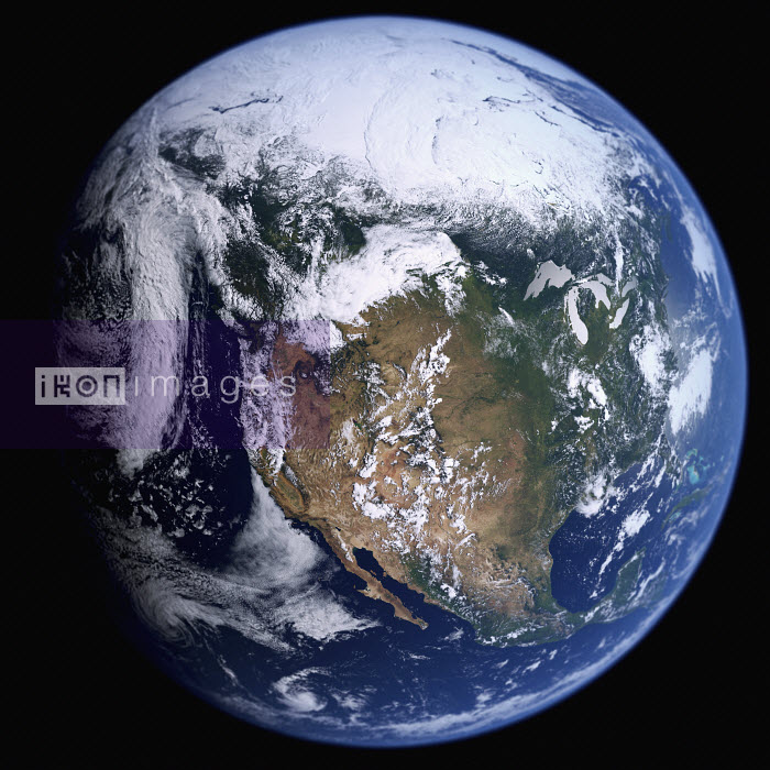 Earth from space showing the United States and Mexico - Ian Cuming