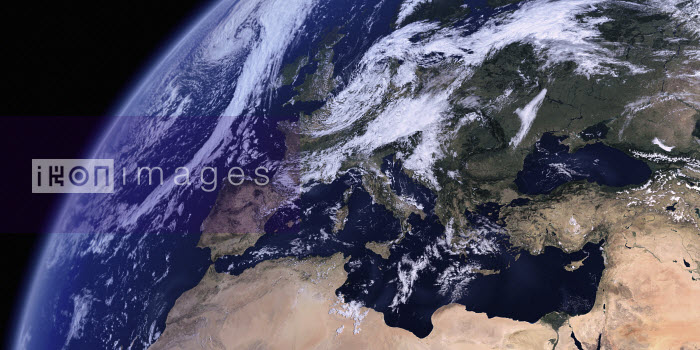 Europe, the Mediterranean Sea and North Africa from space - Ian Cuming