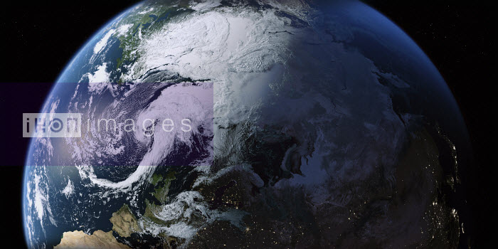 The Arctic and the Northern Hemisphere from space - Ian Cuming