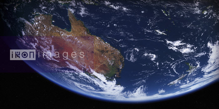 Australia and New Zealand from space - Ian Cuming