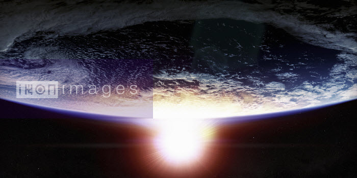 Sunset over planet earth from space - Ian Cuming