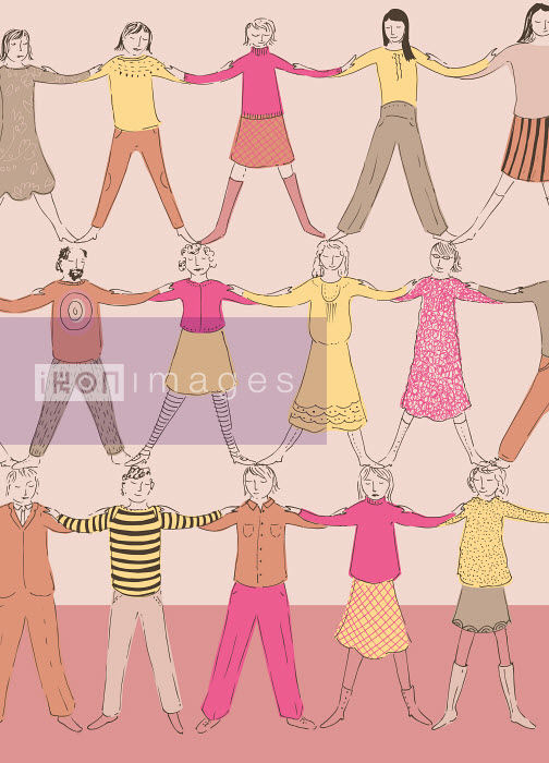 People cooperating to form human pyramid - People cooperating to form human pyramid - Trina Dalziel