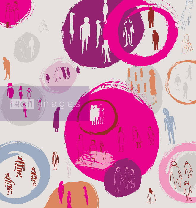 People segregated into groups by circles or excluded outside - People segregated into groups by circles or excluded outside - Trina Dalziel
