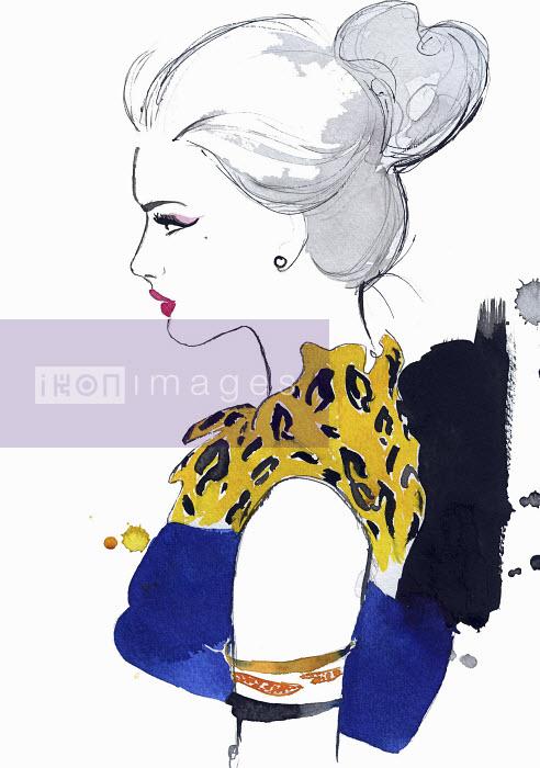 Profile of elegant woman wearing animal print - Profile of elegant woman wearing animal print - Jessica Durrant
