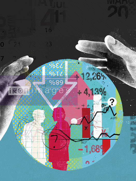 Hands around finance data inside of crystal ball - Hands around finance data inside of crystal ball - Stuart Kinlough