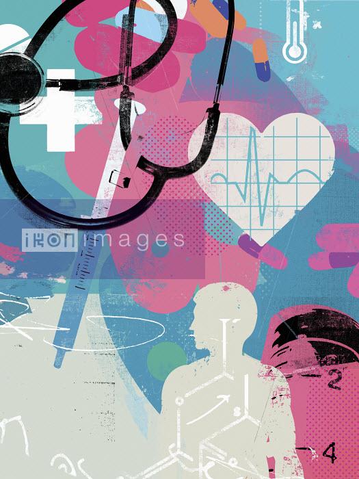 Healthcare and medicine collage - Healthcare and medicine collage - Stuart Kinlough