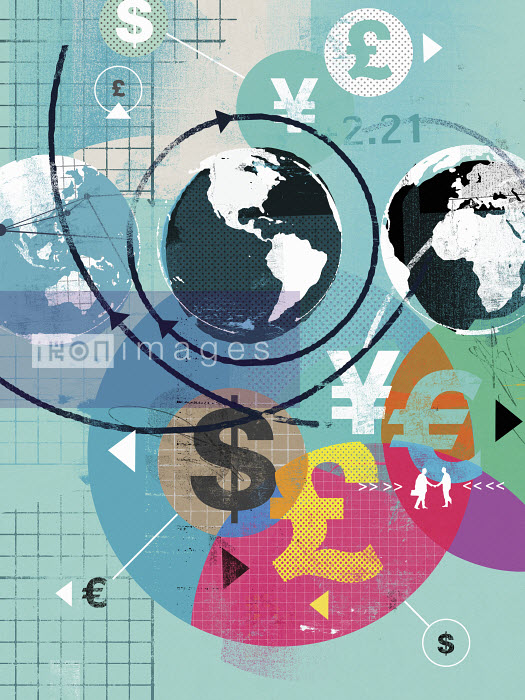 Global finance and international currency symbols - Global finance and international currency symbols - Stuart Kinlough