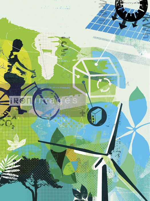 Collage of alternative energy and environmentally friendly lifestyle - Collage of alternative energy and environmentally friendly lifestyle - Stuart Kinlough