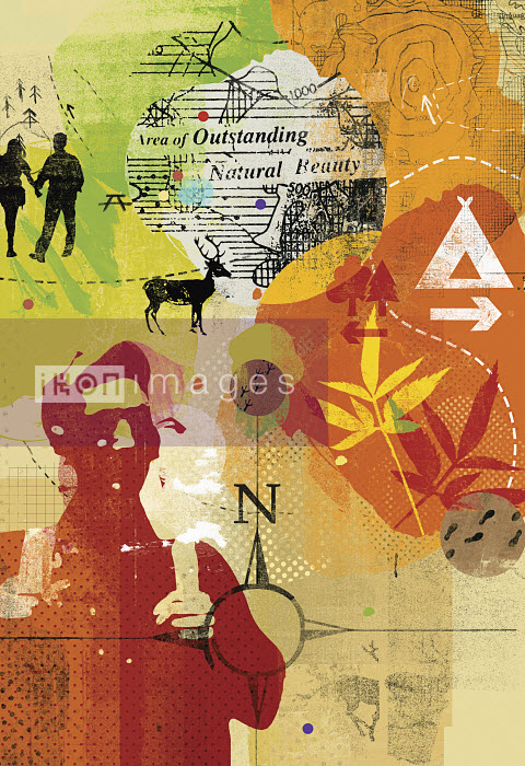 Collage of people enjoying outdoor pursuits - Collage of people enjoying outdoor pursuits - Stuart Kinlough
