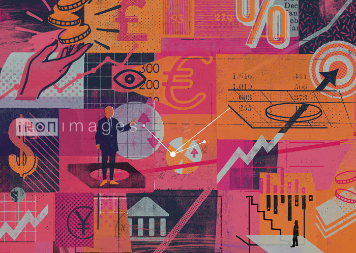 Montage of global finance and economic data - Montage of global finance and economic data - Stuart Kinlough