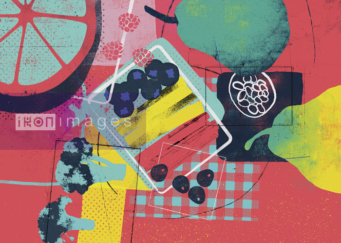 Healthy food collage - Stuart Kinlough