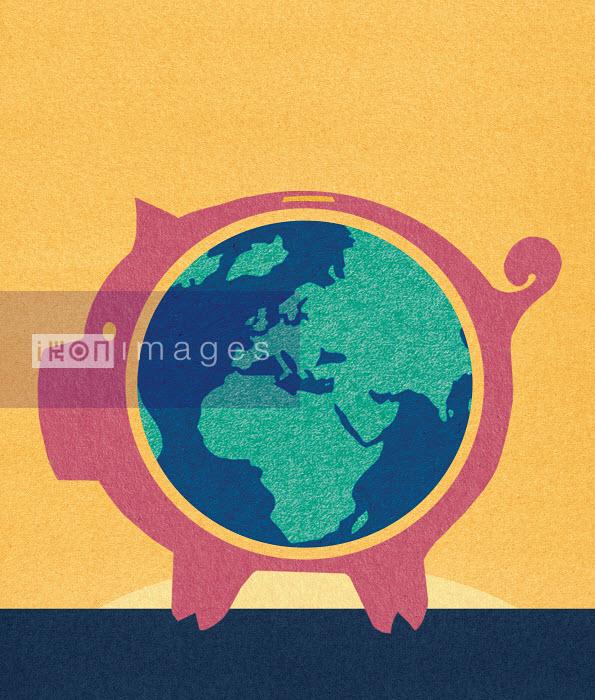Globe inside piggybank - Globe inside piggybank - Marcus Butt