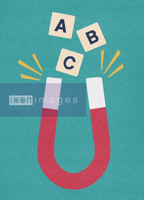 Magnet attracting alphabet blocks - Magnet attracting alphabet blocks - Marcus Butt