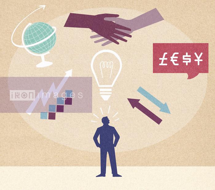 Businessman planning growth of global business - Businessman planning growth of global business - Marcus Butt