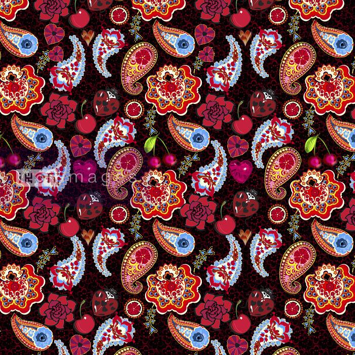 Bright colorful paisley pattern - Bright colorful paisley pattern - Coral Hernandez Finol