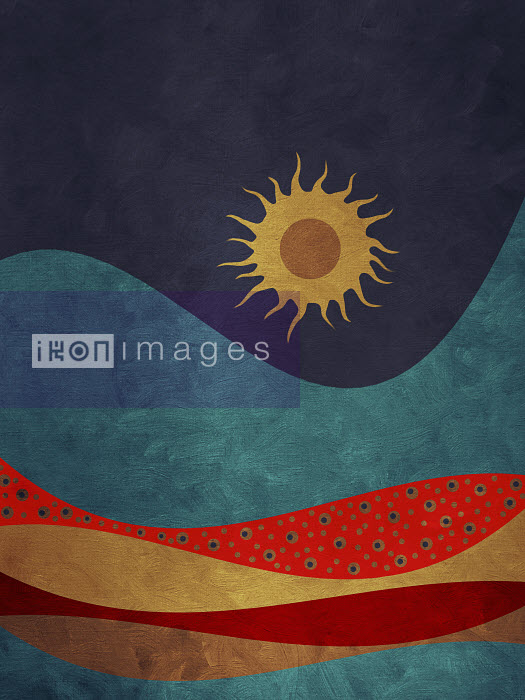 Sun shining over colored layers in mountain valley - Sun shining over colored layers in mountain valley - Viviana Gonzalez