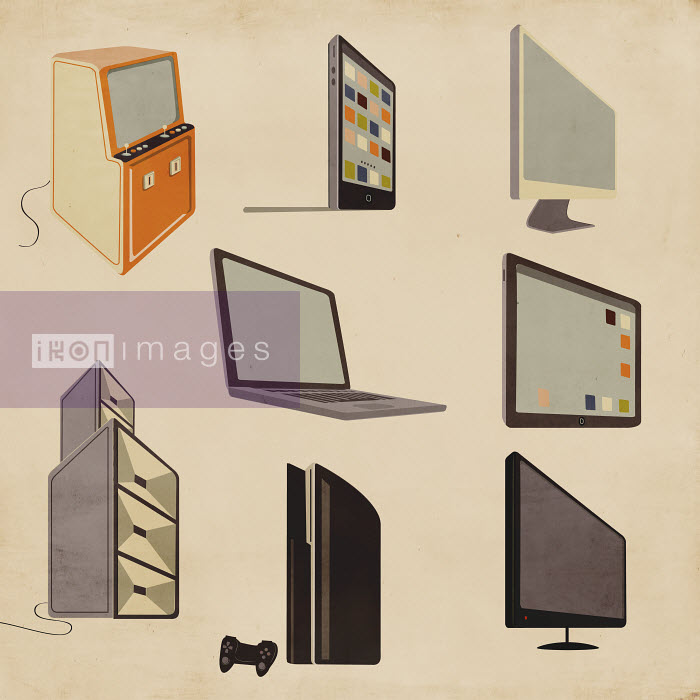 Modern and old-fashioned computer, entertainment and video game technology - Modern and old-fashioned computer, entertainment and video game technology - Giordano Poloni