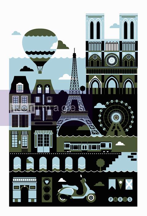 Tourism montage of famous landmarks in Paris - Tourism montage of famous landmarks in Paris - Koivo