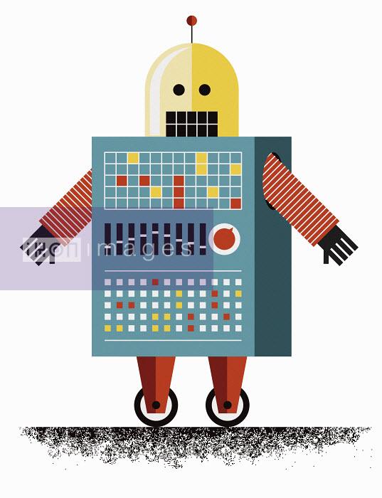 John Devolle - Retro toy robot