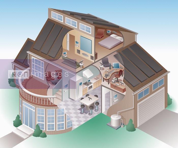 Kenneth Batelman - Futuristic high tech, energy efficient luxury house