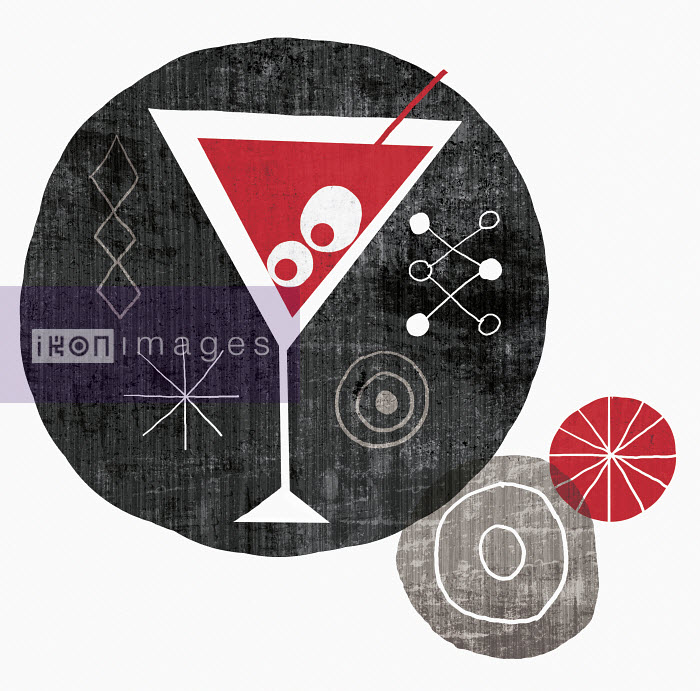 Michael Mullan - Martini cocktail with olives