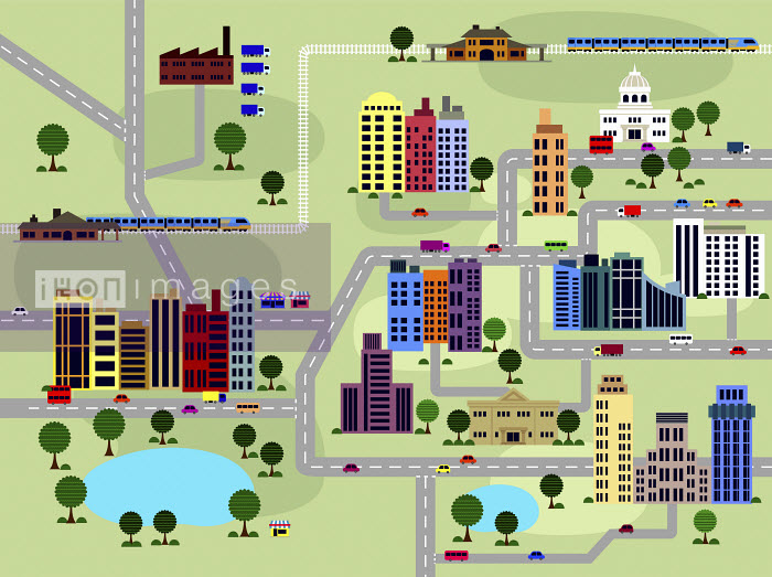 Ade Akinrujomu - Layout of roads and buildings in city