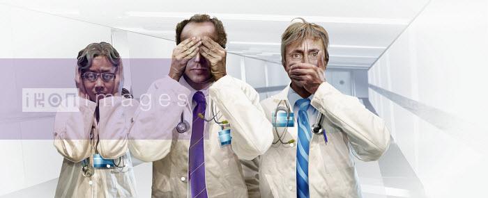 Three doctors hear no evil, see no evil, speak no evil - Three doctors hear no evil, see no evil, speak no evil - Derek Bacon