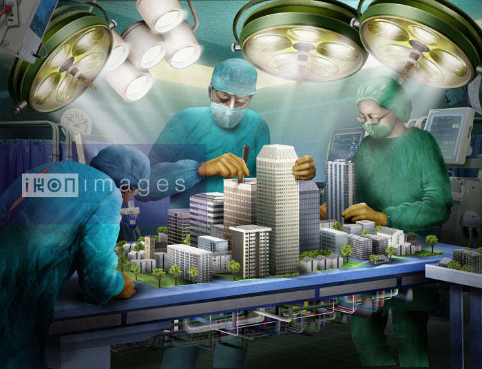Doctors operating on urban architecture - Doctors operating on urban architecture - Derek Bacon