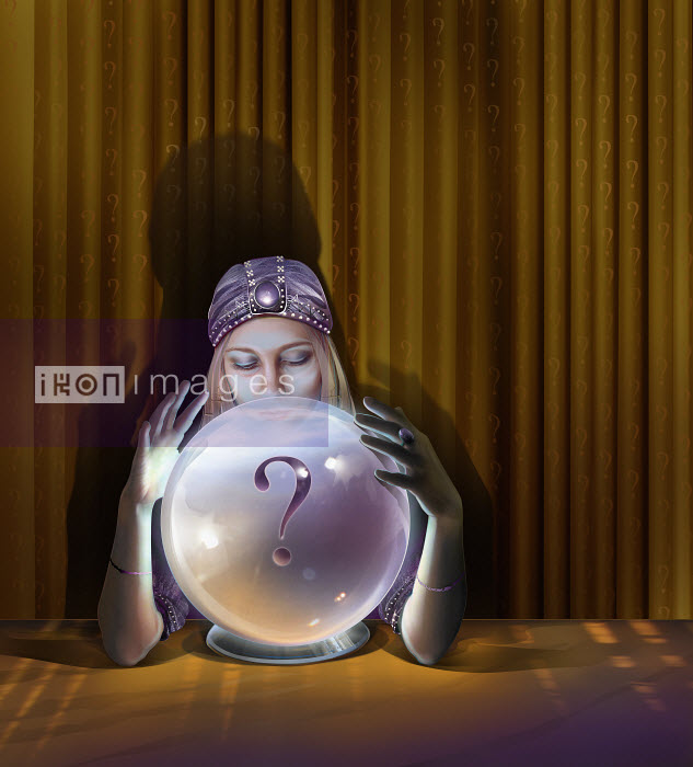 Fortune teller with crystal ball - Fortune teller with crystal ball - Derek Bacon