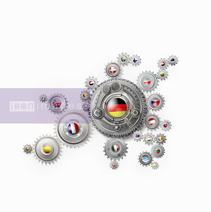 Germany at centre of European Union cogs - Germany at centre of European Union cogs - Derek Bacon
