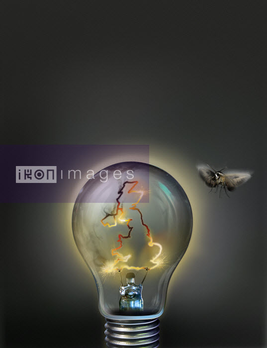 Lights going out on United Kingdom light bulb - Lights going out on United Kingdom light bulb - Derek Bacon