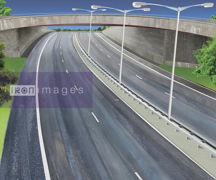 Vacant freeway with flyover bridge - Vacant freeway with flyover bridge - Derek Bacon